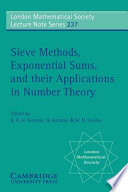 Sieve Methods Exponential Sums And Their Applications In Number Theory