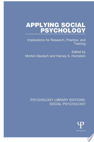Download Applying Social Psychology Free Books - Read Books