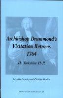 Archbishop Drummond's Visitation Returns 1764