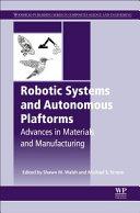 ROBOTIC SYSTEMS AND AUTONOMOUS PLATFORMS  Book
