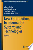 New Contributions in Information Systems and Technologies  , Band 1