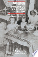 Gender and the Politics of Welfare Reform