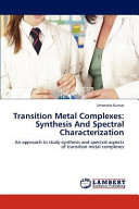 Transition Metal Complexes Book
