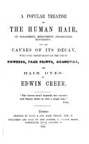 A Popular Treatise on the Human Hair