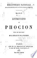 Entretiens de Phocion, sur le rapport de la morale et de la politique