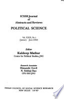 ICSSR Journal of Abstracts and Reviews