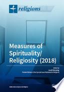 Measures Of Spirituality Religiosity 2018
