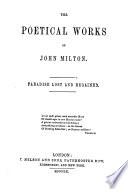 The poetical works of John Milton. Paradise lost and regained