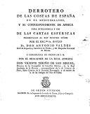 Derrotero de las costas de España en el Mediterraneo