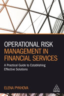 Operational Risk Management In Financial Services Book PDF