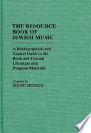 The Resource Book of Jewish Music