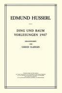 Ding und Raum: Vorlesungen 1907