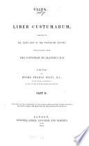 Munimenta Gildhall   Londoniensis  Liber albus  Liber custumarum  et Liber Horn