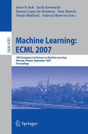 Machine Learning  ECML 2007