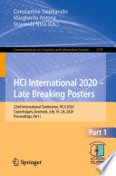 Hci International 2020 Late Breaking Posters