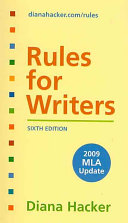 Rules For Writers 2009 Mla Update Developmental Exercise To Accompany Book PDF