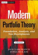 Modern Portfolio Theory    Website
