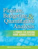 Finance, Budgeting & Quantitative Analysis