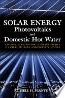 Solar Energy  Photovoltaics  and Domestic Hot Water