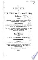 The Reports of Sir Edward Coke, Knt., in Verse