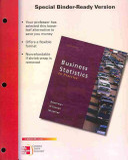 Loose leaf Version Business Statistics in Practice