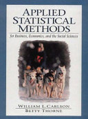 Applied Statistical Methods