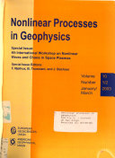 Nonlinear Processes In Geophysics Book PDF