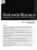 Anticancer Research Book PDF