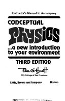Instructor's Manual to Accompany Conceptual Physics