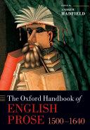 Pdf The Oxford Handbook of English Prose 1500-1640 Telecharger
