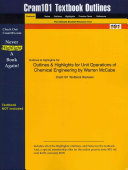 Outlines and Highlights for Unit Operations of Chemical Engineering by Warren Mccabe  Isbn