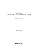Encyclopedia of the Peoples of Asia and Oceania  M to Z Book PDF