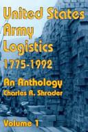 United States Army Logistics  1775 1992