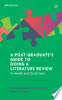 Ebook A Postgraduate S Guide To Doing A Literature Review In Health And Social Care 2e