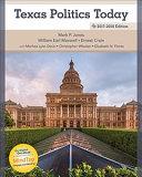 Texas Politics Today 2017 2018   MindTap Political Science Access Card