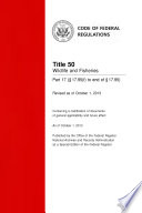 Title 50 Wildlife And Fisheries Part 17 17 95 F To End Of 17 95 Revised As Of October 1 2013