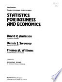 Student Workbook to Accompany Statistics for Business and Economics