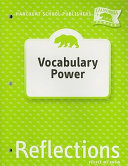 California Reflections  Vocabulary Power  Grade 2