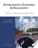 Cover of Environmental Economics and Management: Theory, Policy and Applications