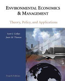Environmental Economics and Management: Theory, Policy and Applications