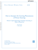 How to Interpret the Growing Phenomenon of Private Tutoring: Human Captial Deepening, Inequality Increasing, or Waste of Resources? Pdf/ePub eBook