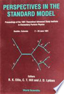 Perspectives In The Standard Model