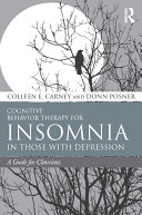 Pdf Cognitive Behavior Therapy for Insomnia in Those with Depression Telecharger