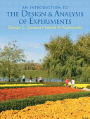 Cover of An Introduction to the Design & Analysis of Experiments