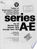Tables of Redemption Values for United States Savings Bonds