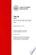 Title 29 Labor Part 1910 1910 1000 To End Of Part 1910 Revised As Of July 1 2013