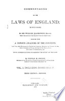 Commentaries on the Laws of England Book