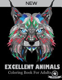 Excellent Animals Coloring Book For Adults