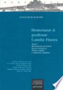 Homenaxe ó profesor Camilo Flores: Metodoloxía lingüística ; Linguas específicas ; Teoría literaria e literatura comparada