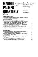 Merrill Palmer Quarterly of Behavior and Development